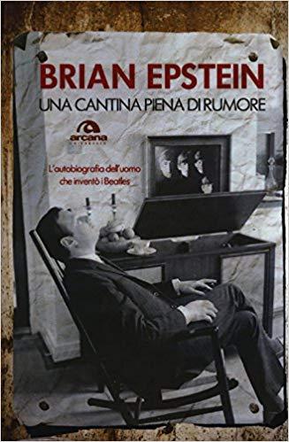 Copertina della biografia di Brian Epstein. Edizioni Arcana. Brian Epstein su un sedia a dondolo.