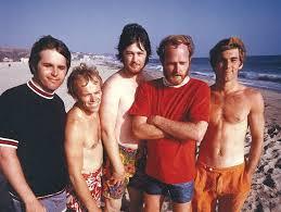 Foto dei Beach Boys in spiaggia.