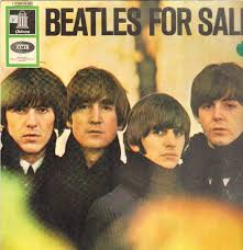 Copertina di Beatles For Sale. Primo piano dei Beatles.