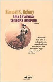 Copertina del libro Una Favolosa Tenebra Informe. Collana Solaria. Immagine di un Cow Boy e di un suonatore di flauto.