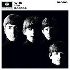 Copertina di With The Beatles. Circa metà del loro volto è in ombra. La copertina è in bianco e nero.