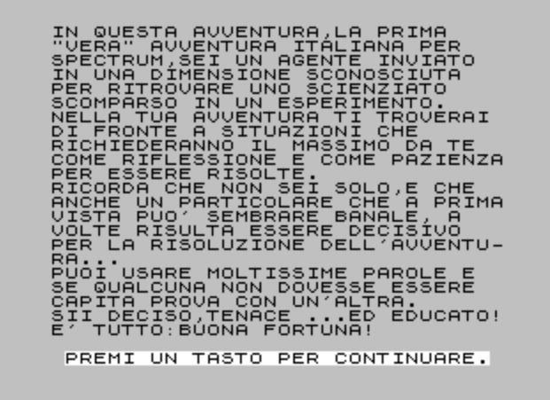 Screenshot del gioco Dimensione Sconosciuta di Bonaventura Di Bello.