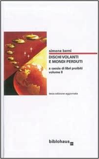 Copertina di Dischi volanti e mondi perduti di Simone Berni.